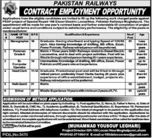Pakistan Railways Jobs May 2020