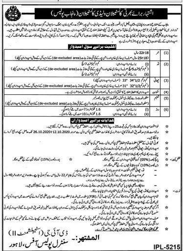 New Punjab Police Jobs Latest 2020 Ad & Application Form
