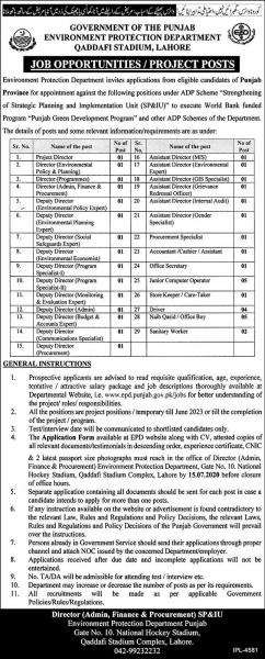 Environment Protection Department Jobs 2020