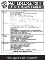Bahria Town Lahore Jobs June 2020