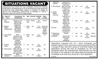 UNHCR Jobs June 2020 United Nations High Commissioner For Refugees