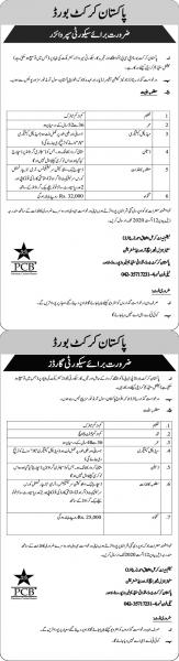 Pakistan Cricket Board PCB Jobs July 2020