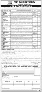 Port Qasim Authority Karachi Jobs July 2020