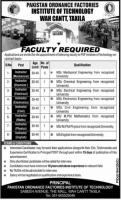 POF Institute of Technology POFIT Jobs  Wah Cantt Taxila 2020 July