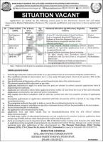 Directorate General For Soil And Water Conservation Jobs August 2020