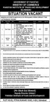 Pakistan Institute of Trade & Development PITAD Latest Jobs 2020