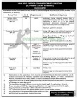 Pakistani Legal And Justice Commission Islamabad Jobs 2020 August Latest