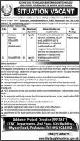 Science Tech and Information Tech Department KPK Jobs 2020