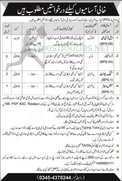 POL Depot ASC Government Army Pakistan Jobs September 2020
