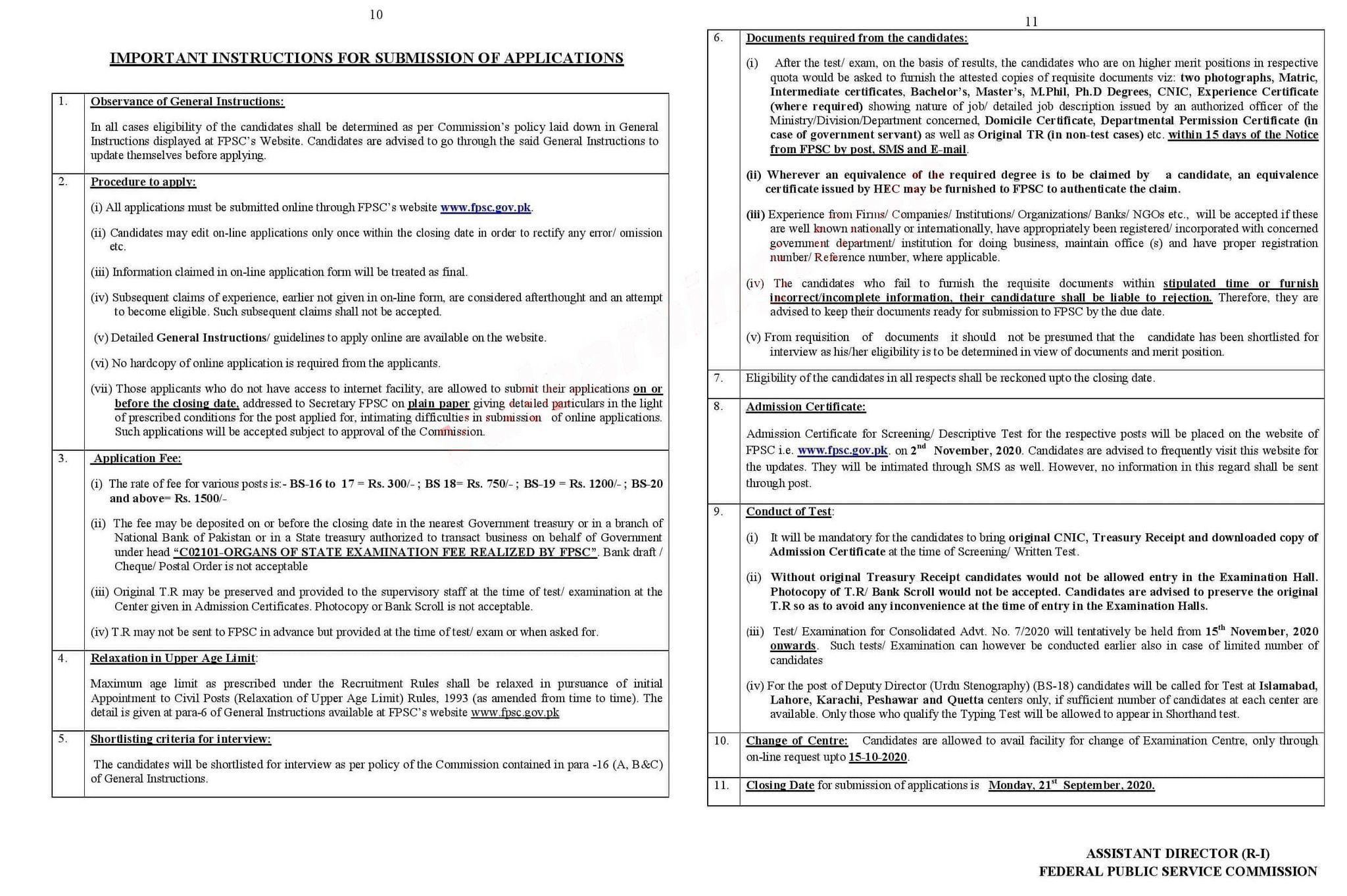 FBR FPSC Jobs 2020