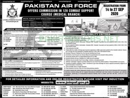 Join PAF jobs 2020 As Medical (Branch) Specialists Online Registration