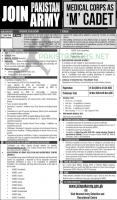 Join Pakistan Army Jobs Medical Corps As M Cadet 2020