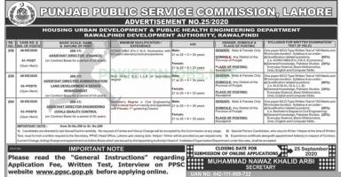 PPSC Latest Jobs Advertisement No. 25/2020