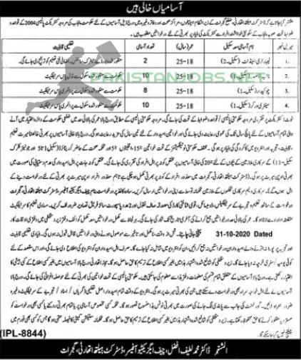 District Health Authority Jobs 17 October 2020 Latest
