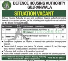 Defence Housing Authority Latest Jobs 2020 October