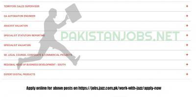 Jazz Jobs 2020 In Pakistan Apply Online