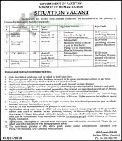 Ministry Of Human Rights Jobs October 2020 Latest
