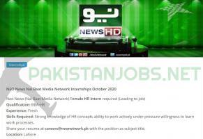 NEO News Network Internships October 2020