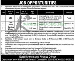 Ordnance Centre Pakistan Army Jobs 2020 in Pakistan