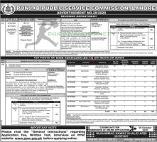 Revenue Department Tehsildar Jobs By PPSC Ad No 28/2020