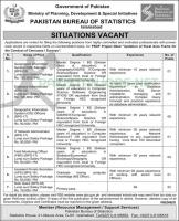 Bureau of Statistics Govt Of Pakistan Jobs Nov 2020