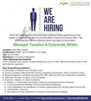 MCB-ARIF HABIB Savings and Investments Limited Jobs Nov 2020