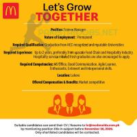 mcdonalds Pakistan Jobs November 2020