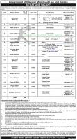 Ministry of Law and Justice www.molaw.gov.pk Pakistan Jobs Nov 2020