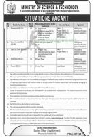 Ministry of Science and Technology Jobs November 2020