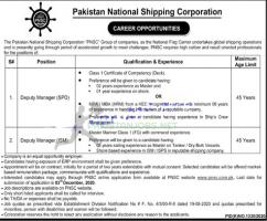 PNSC Deputy Manager Jobs 2020 Apply Online www.pnsc.com.pk