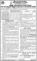 Sindh Police Junior Clerk Jobs 2020 - PTS Application Form - Online Apply
