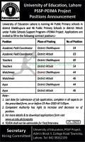 University Of Education Lahore Jobs November 2020 Latest