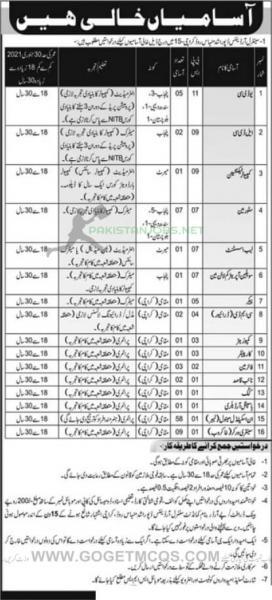 Pakistan Army Central Ordnance Depot COD Dec Jobs 2020