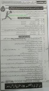 Ad Of Recruitment Of Male & Female constables In Punjab Police As a Wireless Operators