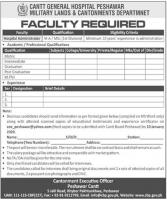 Govt Jobs In Cantt General Hospital Peshawar Pakistan 2021