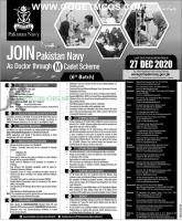 Join Pak Navy As A Doctor Via 2020 M Cadet Scheme Online Registration