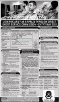 Join Pakistan Army As Capt Direct Short Service Commission May 2021