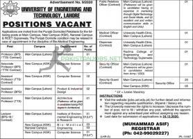 University of Engineering & Technology UET Jobs Dec 2020