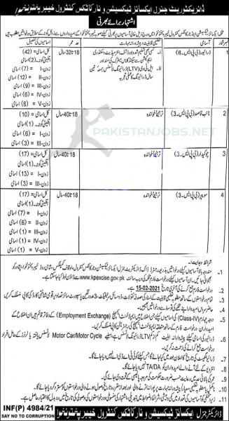 Excise and Narcotics Department Jobs 2021