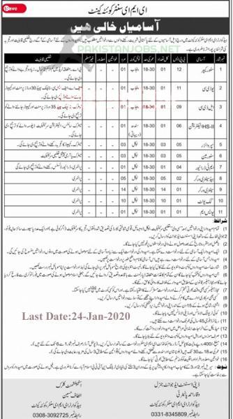 Pakistan Army EME Center Quetta Cantt Jobs 2021