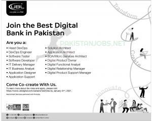 UBL Digital banking Jobs 2021