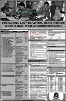 Join Pakistan Army As Captain Through SSRC 2021