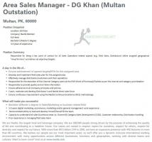 NESTLE Pakistan Area Sales Manager Jobs 2021