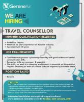 SereneAir Is Hiring TRAVEL COUNSELLOR Jobs 2021