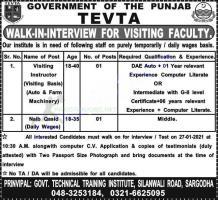 TEVTA Punjab Jobs 2021 Latest Advertisement