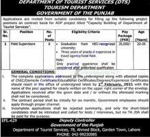 Tourism Department Punjab Latest Jobs 2021