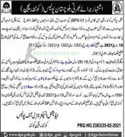 Class IV (BPS-01) Police Jobs 2021