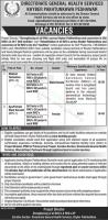 Directorate General Health Services Jobs 2021 Advertisement