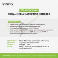 Infinix Is Hiring Social Media Marketing Manager