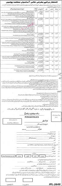 Punjab Police Jobs 2021 - CPO Pakistan - Application Form